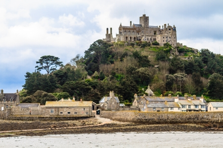 St. Michael Mount in Cornwall (near village of Marazion), UK