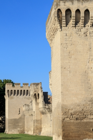 Avignon Medieval City Wall / Fortifications, Provence, France Stock Photo - 16392728