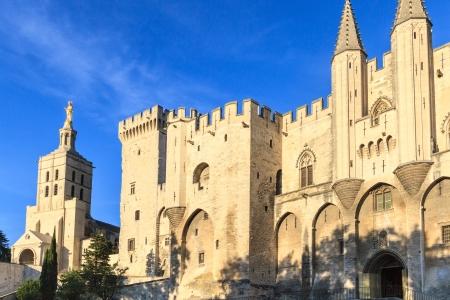 avignon: Avignon, View on Popes Palace, Provence, France