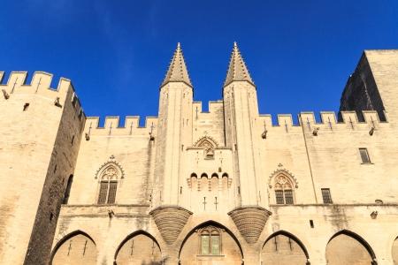 avignon: Avignon - View on Popes Palace, Provence, France