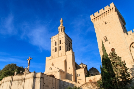 avignon: Avignon - Notre Dames des Domes Church near Papal Palace, Provence, France