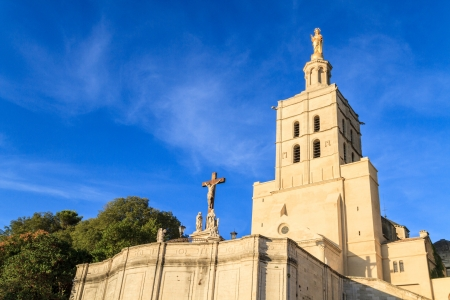Avignon - Notre Dames des Domes Church near Papal Palace, Provence, France Stock Photo - 16411757