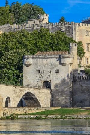 avignon: Avignon Bridge, Pont Saint-Benezet, Provence, France Stock Photo