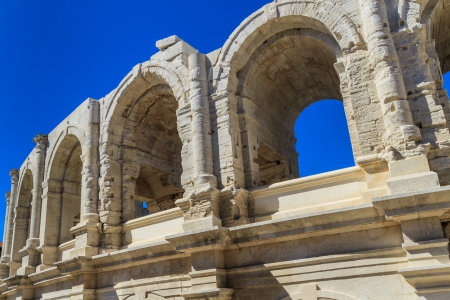 arles: Roman Arena  Amphitheater in Arles, Provence, France