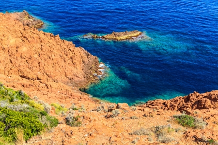 Beautiful Scenic Coastline on the French Riviera near Cannes, France photo