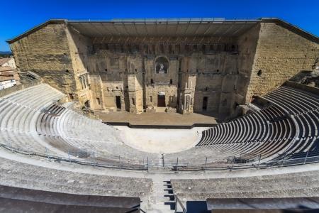 teatro antiguo: Teatro romano de Orange, el sur de Francia