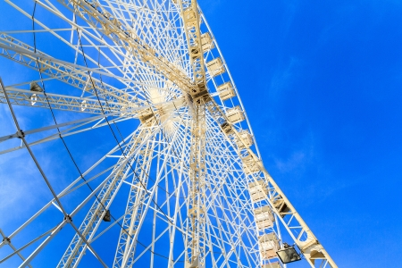 Ferries Wheel in front of blue sky photo
