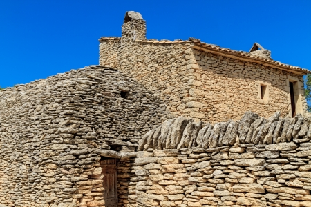 drystone: Stone huts in the Bories Village near Gordes, Vaucluse, Southern France