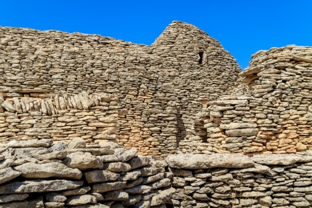 settlements: Stone huts in the Bories Village near Gordes, Vaucluse, Southern France