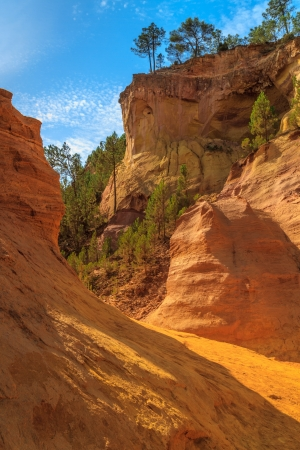 Red Cliffs in Roussillon (Les Ocres), Provence, France photo