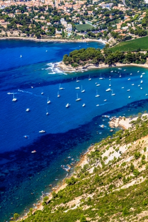 azure coast: Aerial view on Cassis and Calanque Coast, Southern France