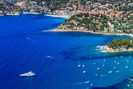 french riviera: Aerial view on Cassis and Calanque Coast, Southern France