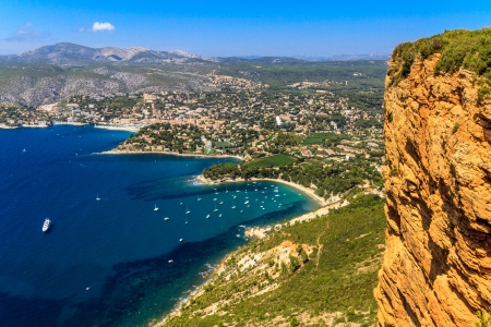 pine creek: Aerial view on Cassis and Calanque Coast, Southern France
