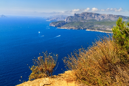 Aerial view on Cassis and Calanque Coast, Southern France photo