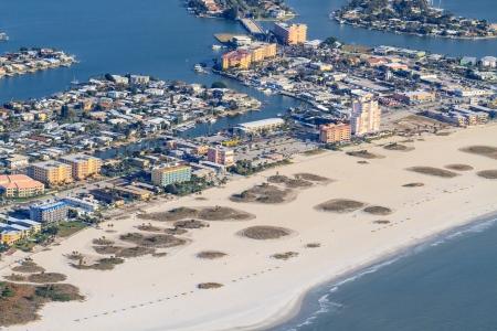 st  petersburg: Aerial View on Florida Beach near St. Petersburg