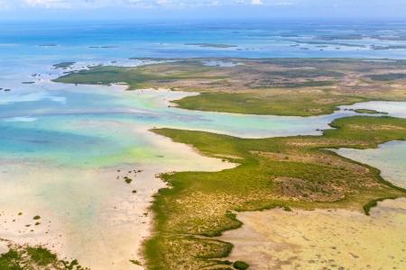 llave de sol: Florida Keys Vista aérea de avión