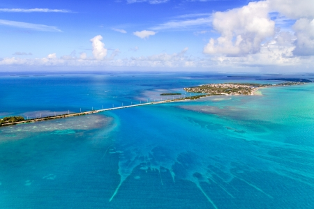 Florida Keys Aerial View from airplane Banque d'images
