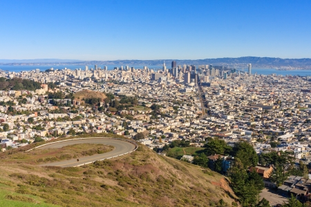 San Francisco Downtown seen from Twin Peaks Stock Photo - 17191535