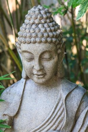stone buddha: Detail of stone Buddha statue