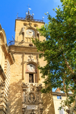 guildhall: Clock Tower, Ville dAix-en-Provence, Provence, France