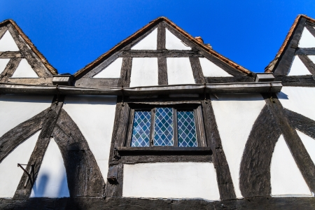 Timber framed house facade, England, UK photo