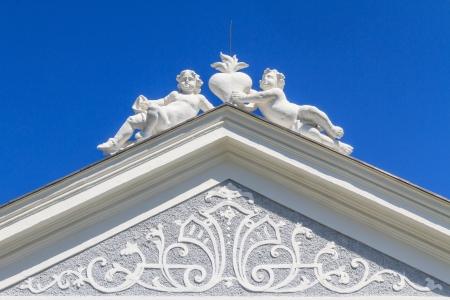 priory: Top of Baroque Portal at Herzogenburg Monastery Park, Austria