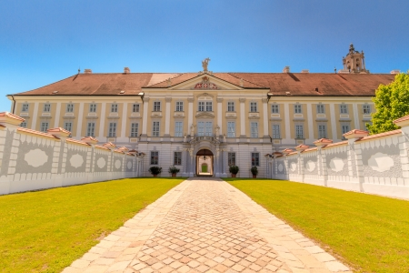 priory: Baroque Portal at Herzogenburg Monastery Park, Austria