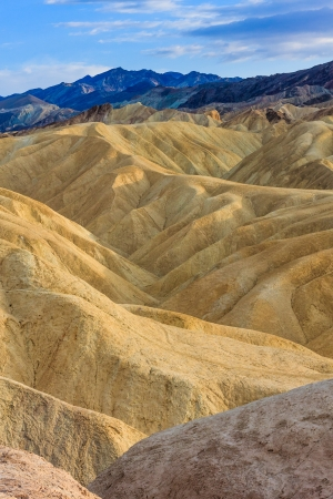 Eroded Mountain Ridges at Zabriskie Point, Death Valley National Park, California, USA photo