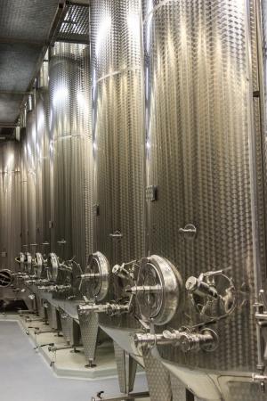 Modern Winery Steel Tanks