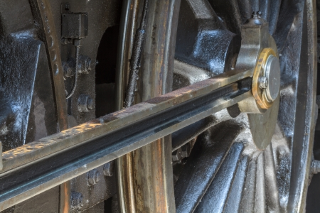 Details of old steam locomotive  photo
