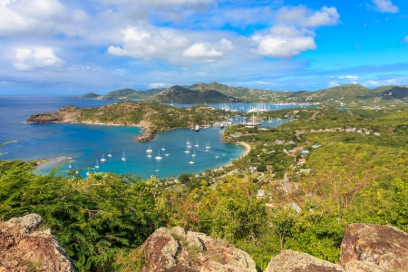 antigua: Antigua Bay, view from Shirely Heights, Antigua, West Indies, Caribbean