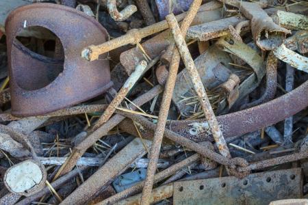 salvage yards: Scrap metal close up in scrap yard Stock Photo