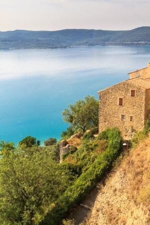 gorges: View over Lac de Sainte Croix, Verdon, Provence, France