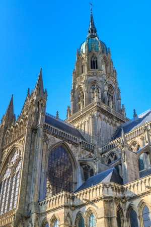 View of Cathedral of Bayeux, Normandy, France