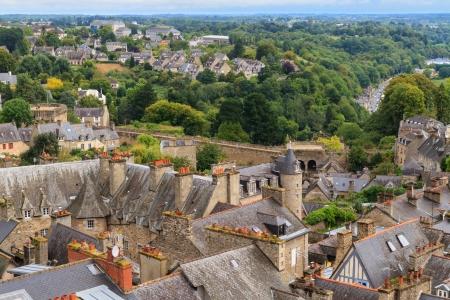 dinan: Dinan old town panoramic view, Brittany, France