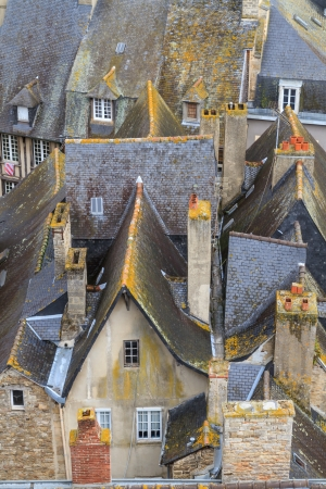 Dinan old town roof tops, Brittany, France photo