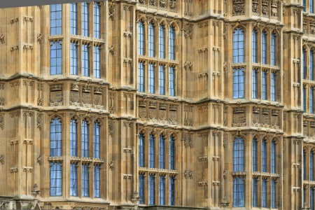 Houses of Parliament facade details  background , London, UK photo