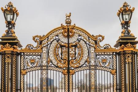 Ornate Gate at Buckingham Palace,  London, UK