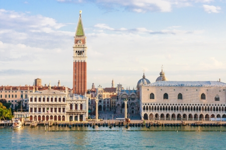 st mark's square: Venice, Italy - Piazza San Marco in the morning Stock Photo