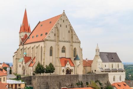 znojemsko: Znojmo, Czech Republic - Church of St. Nicholas and St. Wenceslas Chapel Stock Photo