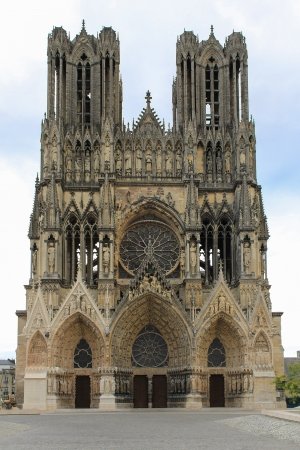Reims, Cathedral of Notre-Dame, Champagne, France Stock Photo