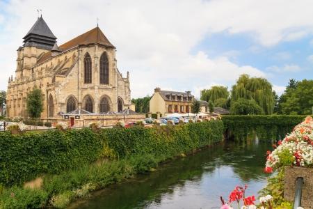 Village célèbre fromage de Pont-l'vanque, Normandie, France