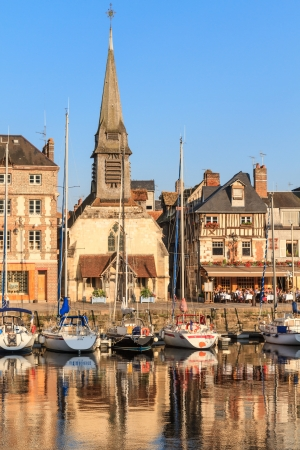 water stained: Honfleur harbor in Normandy, France