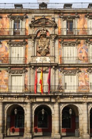 plaza of arms: Madrid, Plaza Mayor, Facade of Casa de la Panaderia, Spain