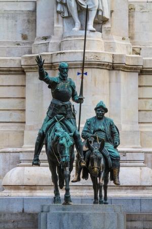 Madrid, Don Quijote y Sancho Panza Estatua, España