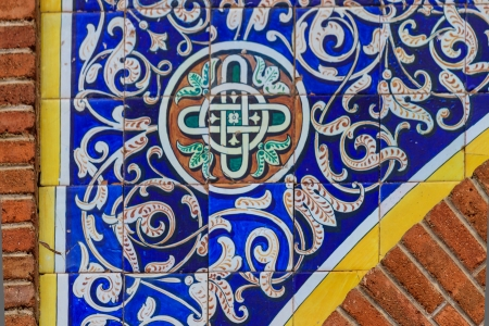 spanish house: Ornamental oriental tile (architectural detail), Spain