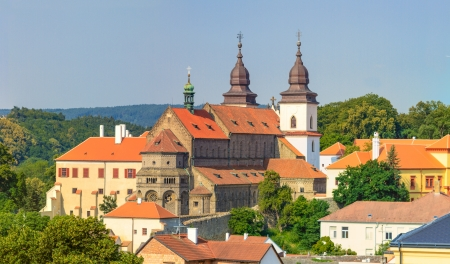 trebic: Trebic, old monastery and St. Procopus Basilica , Czech Republic