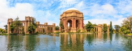 San Francisco Panorama, Exploratorium and Palace of Fine Art, California Stock Photo