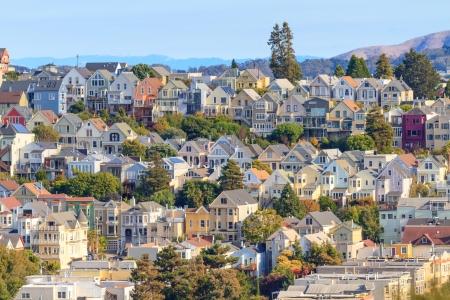 典型的な San Francisco 近所、カリフォルニア