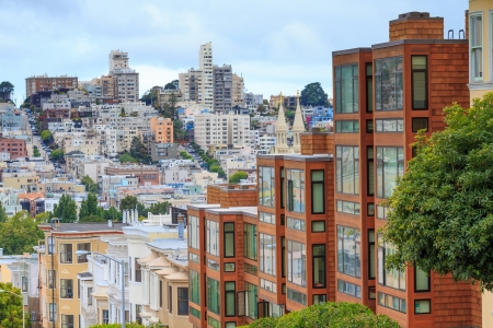 san francisco bay: Typical San Francisco Neighborhood, California